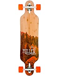 """Miller Division Physis 38"""" - Longboard, color marrón madera"""