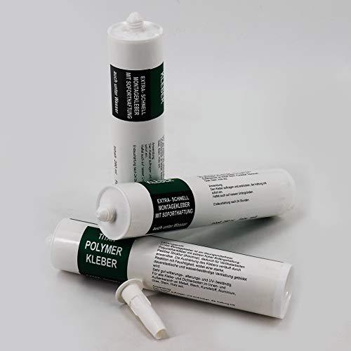 1 x Kleber Ufermatte Böschungsmatte für die Teichfolie 290 ml weiß