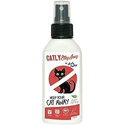 Katzen Fernhaltespray Catly Stay Away | 100% Bio Katzenabwehrspray aus Zitrus Bitterstoffe | Natürliche Katzenabwehr im Garten & Katzenschreck
