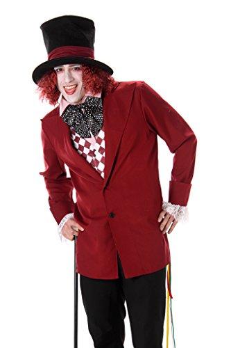 Viktorianische Mad Hatter Herren Märchen Dickens Buch Tag Erwachsene Kostüm (XL 46 -48