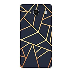 Neo World Golden pattern Back Case Cover for Redmi 2 Prime