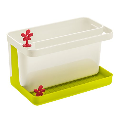 Koziol PARK-IT Sink Side Organizer Kitchen, mustard green/white