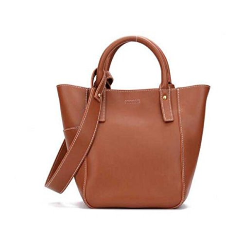Frauen Handtaschen Rindsleder Einkaufstasche Einkaufstasche Big-Bag Brown