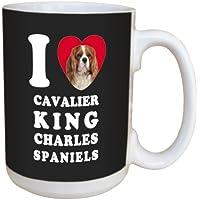 Biglietto di auguri tree-free ceramica i Heart Cavalier King Charles spaniel tazza con manico standard, multicolore