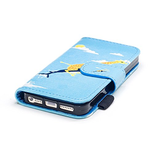 Custodia iPhone 5S, iPhone SE Cover Wallet, SainCat Custodia in Pelle Flip Cover per iPhone 5/5S/SE, Ultra Sottile Anti-Scratch Book Style Custodia Morbida Cover Protettiva Caso PU Leather Custodia Li Squalo Spazzino Lungo