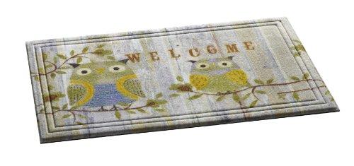 ZERBINO gufo/ZERBINO gufo/ZERBINO/ZERBINO/ZERBINO/ZERBINO/ZERBINO gufo gufi modello: Naturelle Welcome/gufo/Dimensioni: circa 46x 76cm/immagine divertente/design ZERBINO/ZERBINO divertente Owl Made in 95% materiali riciclati