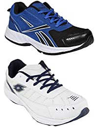 Redon Men's Pack Of 2 Sports Running Shoes (Running Shoes, Jogging Shoes, Gym Shoes, Walking Shoes) - B074HDQ29Z