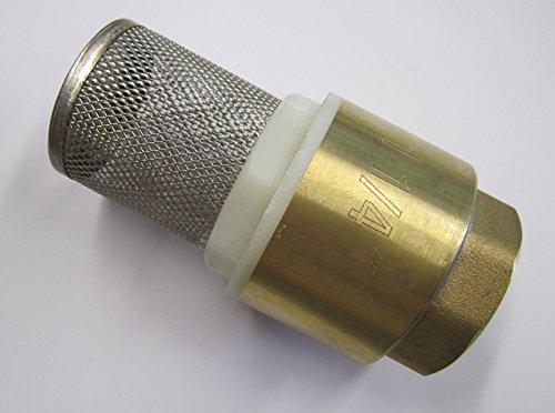 Clapet federbelastet/embout en laiton 1 1/4 \