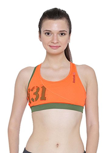 Reebok Spartan Short Brassière de sport Orange - Electric Peach