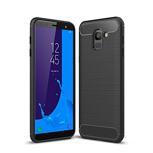 Acelive cover samsung galaxy j6, morbido protettiva tpu case cover custodia in silicone per samsung galaxy j6 2018 (nero)