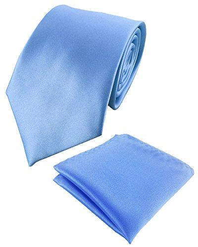 KOOELLE - Corbata - para hombre azul claro M