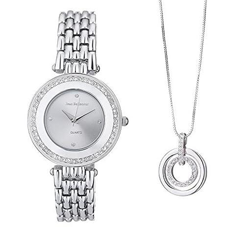 Jean bellecour coffret montre et collier redt21-c femme