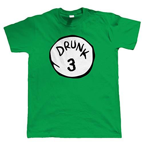 Betrunken Thing, Herren T-Shirt St.Patrick's Day Lustig Irisch Paddys Trinken Holiday Neuheit Junggesellenabschied Party Kostüm Beer Kostüm Rot Grün Nummern 1-9 - Grün Betrunken 3, - Holiday Party Kostüm