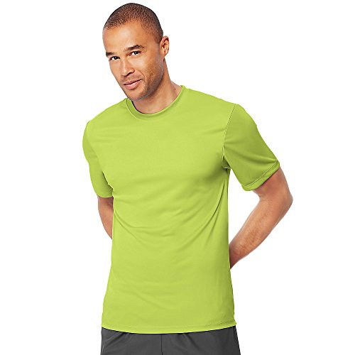 Hanes Mens Cool Dri Performance T-Shirt Safety Green