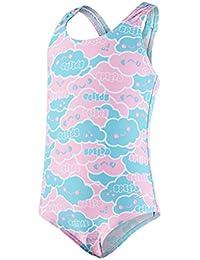 Speedo Girls' Cosmic Cloud Essential All Over One Piece Swimwear