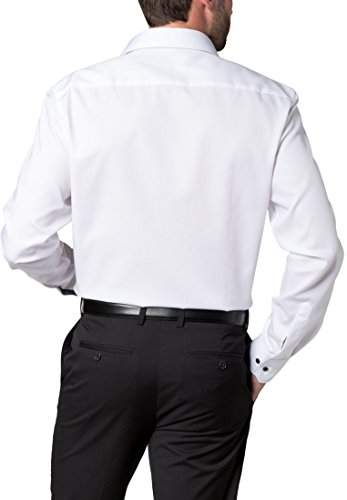 ETERNA Langarm Hemd MODERN FIT Pinpoint unifarben Weiß