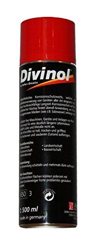 Preisvergleich Produktbild Divinol Konservierungswachs Spray 500ml - vollsynthetisches Korrosionsschutzwachs - Korrosionsschutzmittel - Konservierung von Gerätschaften aller Art