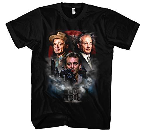Bill Murray Männer und Herren T-Shirt   Ghostbuster St. Vincent Vintage (S, Schwarz Druck: Bunt)