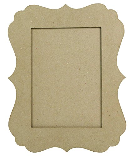 décopatch Mache Festoon Frame, 1 x 20 x 25 cm, Brown