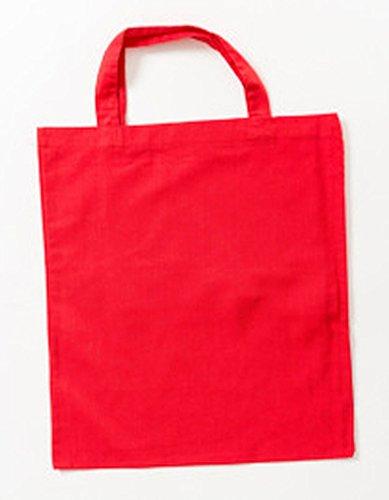 Jutebeutel kurze Henkel Farbe rot (Baumwolle Kurzen Rot)