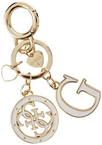 Guess Damen Not Coordinated Keychain Handtaschenhalter, Weiß (White), 8x18x1 Centimeters