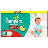 Boîte De Jumbo De Pampers Baby-Secs Pantalon Taille 4 72 Couches -