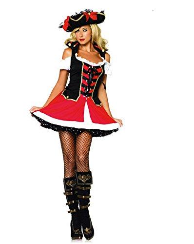 Gorgeous Halloween Piraten Kostüme , die die neue Farbe Kleid weibliche Piraten-Kostüm Caribbean (Weibliche Caribbean Pirate Kostüm)