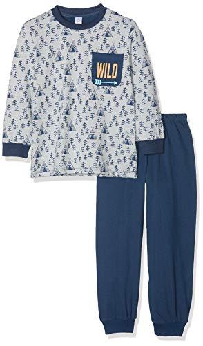 Kanz Jungen Zweiteiliger Schlafanzug lang, Blau (Allover Multicolored 0003) 98