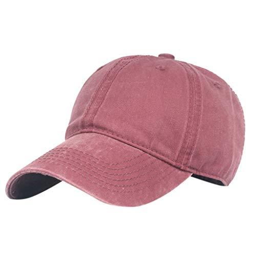 Saingace(TM) Hüte Baseball Cap - Unisex Mütze, Kappe für Herren und Damen, Einfarbige Basecap, rundum geschlossen