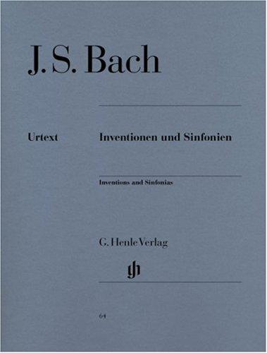 Inventionen und Sinfonien BWV 772-801 (inventions à 2 et 3 voix) - Henle