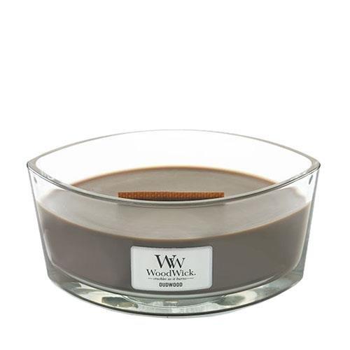 Woodwick Adlerholz Dekorative Duftkerze Im Glasgefäß 453.6 g, Glas, Dunkel Braun/durchsichtig, 11.3 x 11.6 x 8.8 - Gewürz ätherische Vanille öle