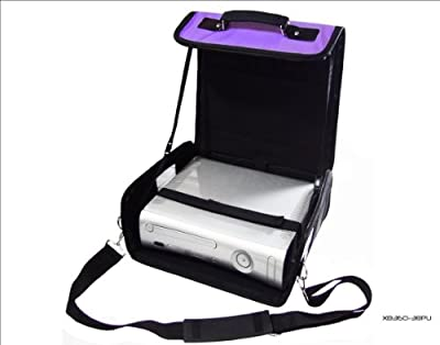 Xbox 360 Purple & Black Deluxe Console Carry Bag/Case. Also for In Car Use. by H & S Products