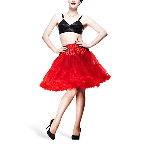 Petticoat Swing - Unterrock rot für Kleider Röcke Kostüme Rockabilly 50er 60er Jahre Mode Hell Bunny - (50er Kostüme Kostüme Jahre Shirts)