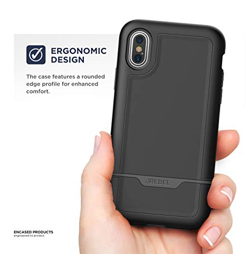 cheaper f7199 9b658 Encased iPhone XS Max Belt Clip Holster Case, Heavy Duty Protective Cover  with Rugged Holster Clip (Rebel Armor Series) Apple iPhone XS Max Phone ...