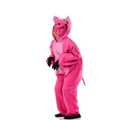 Imagen de disfraz de cerdito rosa para niño