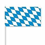 antrada Papierfähnchen 'Bayern' (Rautenform/Bayernraute) (50 Stück)