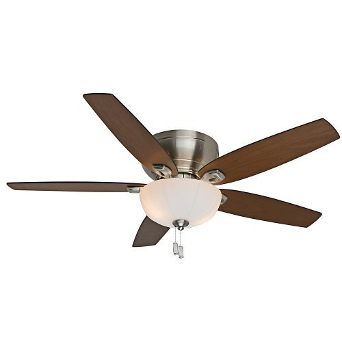 Casablanca Fan Company 54101 Durant 54-Inch Brushed Nickel Ceiling Fan with Five Walnut/Burnt Walnut Blades with Light Kit by Casablanca - Casablanca Fan Blade