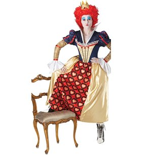 (Red Queen - Alice in Wonderland - Disney - Adult Fancy Dress Costume - Large)