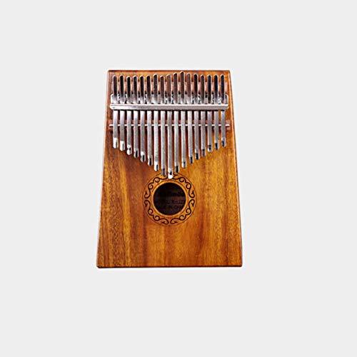 Monllack Akazie Mahagoni Massivholz Finger Daumen Klavier Taschenformat Tasche Tastatur Marimba Holz Musikinstrument (Musikalische Tastatur Tasche)