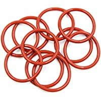 X AUTOHAUX 5pcs Car Red Universal Silicone O-Ring Sealing Gasket 100mm X 2.4mm