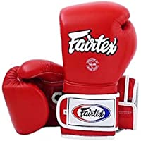 Fairtex guantes de boxeo de estilo mexicano–BGV9–Sistema de núcleo de espuma de látex ALTO impacto., 12oz, Rojo