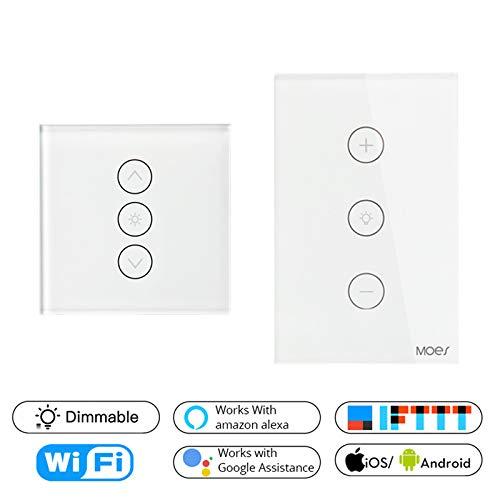 COTZFDE WiFi Smart Wall Touch Licht Dimmer APP Fernbedienung Kompatibel mit Alexa und Google Home US Dimmer Switch