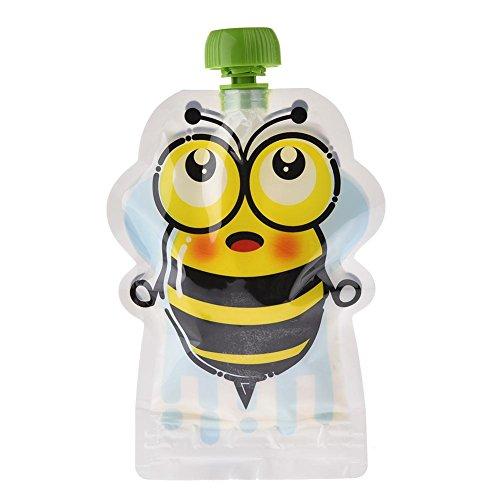 mongrep Satz von 8/8 Stck 150 ml Wiederverwendbare Beutel für Babys BPA-Frei Versiegelter Doppelreißverschluss Quetschbeutel für Pürierte Organische und Hausgemachte Babynahrung