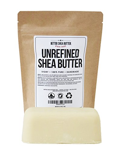 Unrefined Shea Butter by Better Shea Butter - African, Raw, Pure - Use Alone or in DIY Body Butters, Lotions, Soap, Eczema & Stretch Marks Products, Lotion Bars, Lip Balms and More! - 1 lb (16 oz) by Better Shea Butter