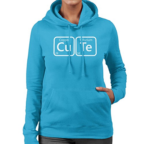 Periodic Table CuTe Women's Hooded Sweatshirt Sapphire