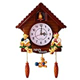 Nicetruc Kuckucksuhr Wanduhr Kunststoff Wald Haus Wanduhr Cartoon Bär Suspension Clock Hour Strike Wecker