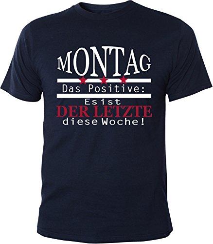 Mister Merchandise Herren Men T-Shirt Montag - es ist der Letzte in dieser Woche Tee Shirt bedruckt Navy