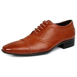 Escaro Mens Tan Formal Oxford Lace Up Dress Shoes (ES1060AG_TAN_6)