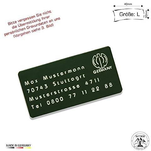 Drohnenkennzeichen / Drohnen Kennzeichnung / Kennzeichen / Fluggerätekennzeichnung / Quadrocopterkennzeichnung inkl. individueller CNC Gravur und doppelseitigem Klebeband (Münze Silber Fall)