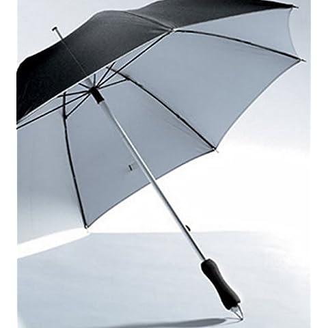 Diseño Aluminio fibra de vidrio pantalla Bastón de hombre Stock Mujer paraguas negro plata aluminio nuevo sol Lluvia Wind pantalla